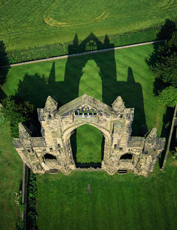 Gisborough Priory from the Skyscan Balloon Camera